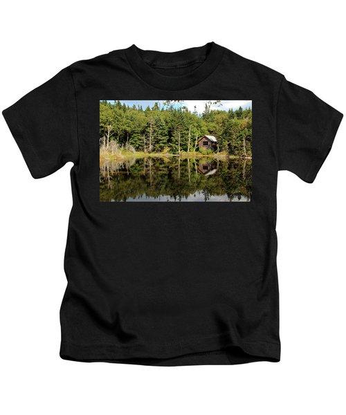 Pond Along The At Kids T-Shirt