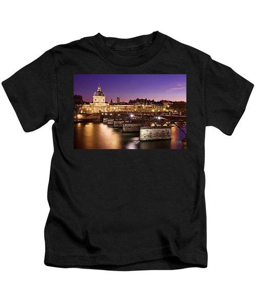 Pont Des Arts And Institut De France / Paris Kids T-Shirt