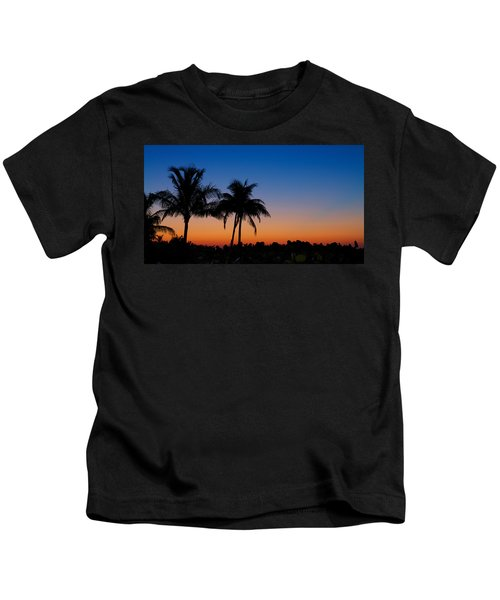 Sanibel Island Florida Sunset Kids T-Shirt