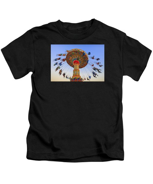 Santa Cruz Seaswing At Sunset 7 Kids T-Shirt