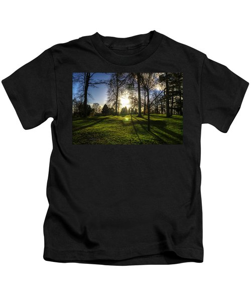 Short Days Long Shadows Kids T-Shirt