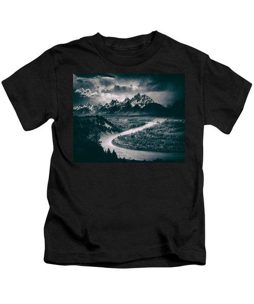Snake River In The Tetons - 1930s Kids T-Shirt