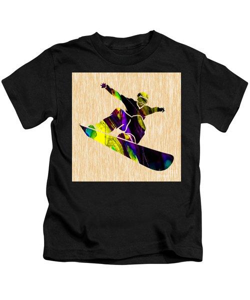 Snowboarding Kids T-Shirt