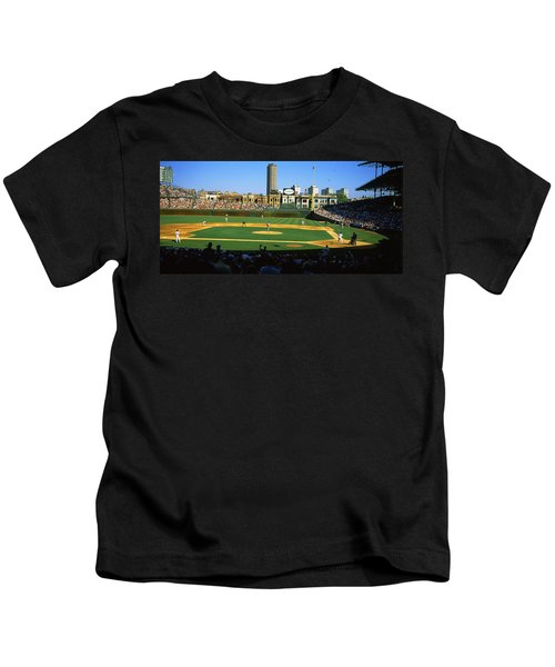 Spectators In A Stadium, Wrigley Field Kids T-Shirt by Panoramic Images