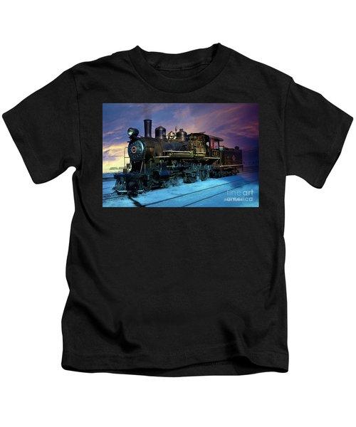 Steam Engine Nevada Northern Kids T-Shirt