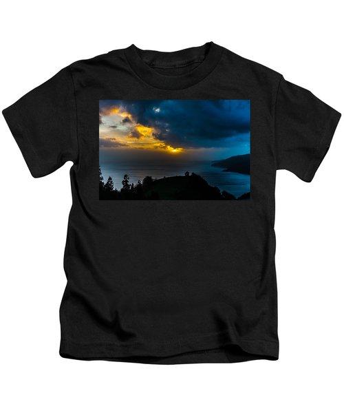 Sunset Over Blue Kids T-Shirt