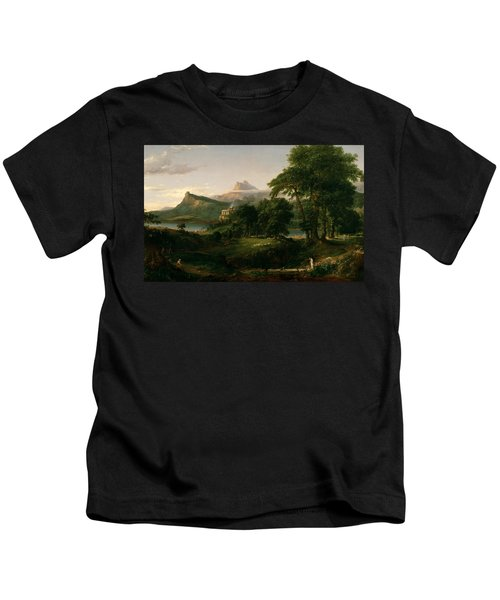 The Course Of Empire The Arcadian Or Pastoral State Kids T-Shirt