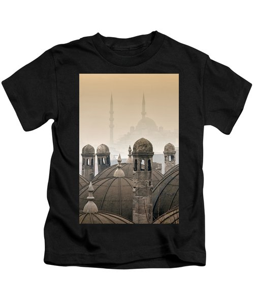 The Suleymaniye Mosque And New Mosque In The Backround Kids T-Shirt