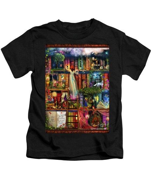 Treasure Hunt Book Shelf Kids T-Shirt