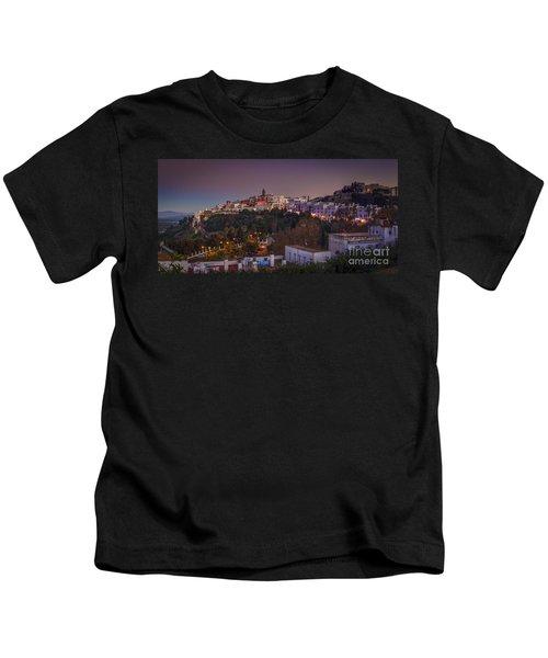 Vejer De La Frontera Panorama Cadiz Spain Kids T-Shirt