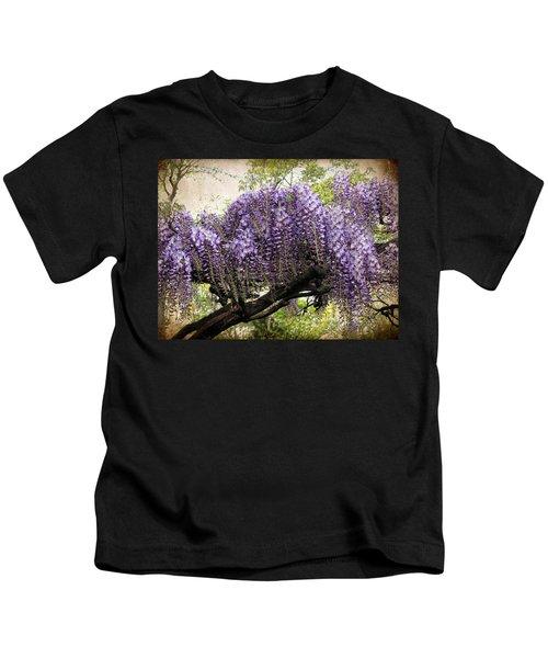 Wisteria In Bloom Kids T-Shirt
