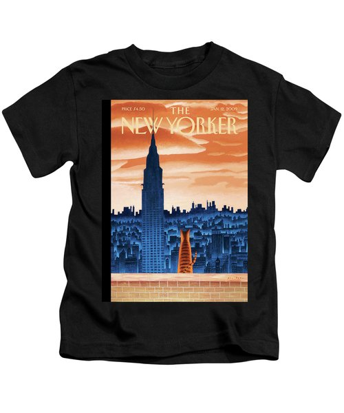 New Yorker January 12th, 2009 Kids T-Shirt