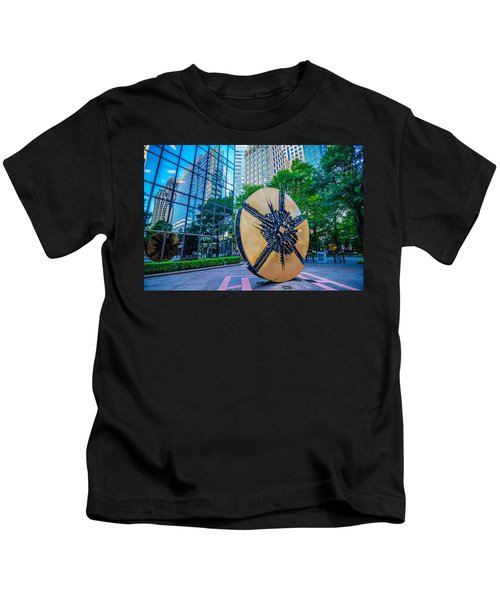 Skyline And City Streets Of Charlotte North Carolina Usa Kids T-Shirt