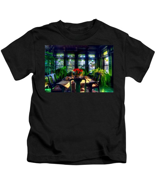 Glensheen Mansion Duluth Kids T-Shirt by Amanda Stadther