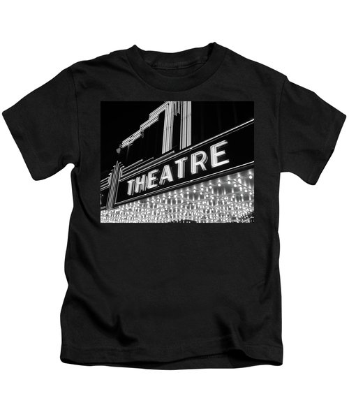 1930s 1940s Theater Marquee Theatre Kids T-Shirt