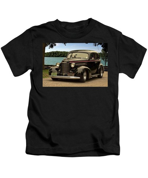 1937 Oldsmobile Custom Sedan Hot Rod Kids T-Shirt