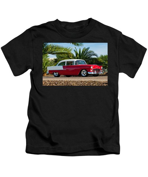 Kids T-Shirt featuring the photograph 1955 Chevrolet 210 by Jill Reger