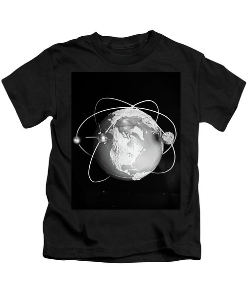 1960s Model Of Earth With Three Kids T-Shirt