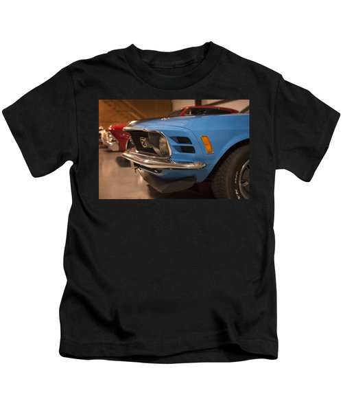 1970 Mustang Mach 1 And Other Classics Hidden In A Garage Kids T-Shirt