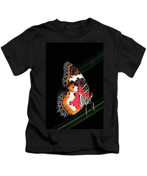 1990s Colorful Malay Lacewing Butterfly Kids T-Shirt