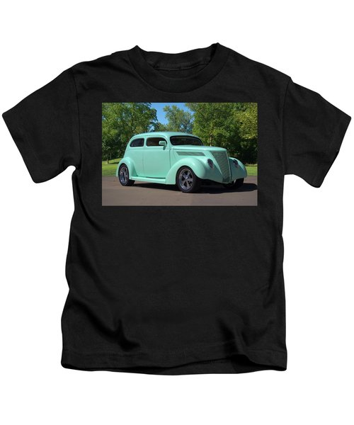 1937 Ford Sedan Hot Rod Kids T-Shirt