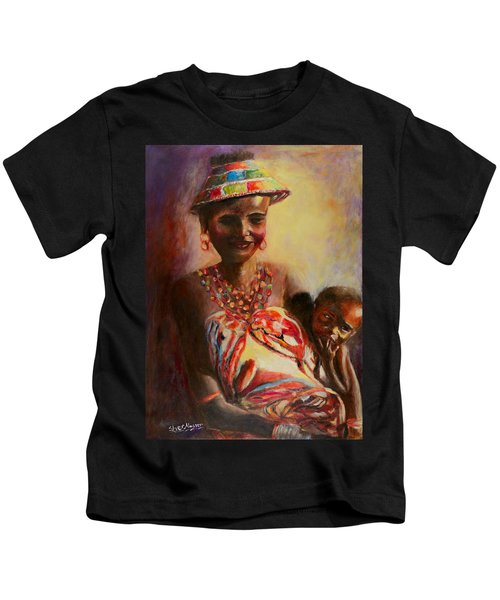 African Mother And Child Kids T-Shirt