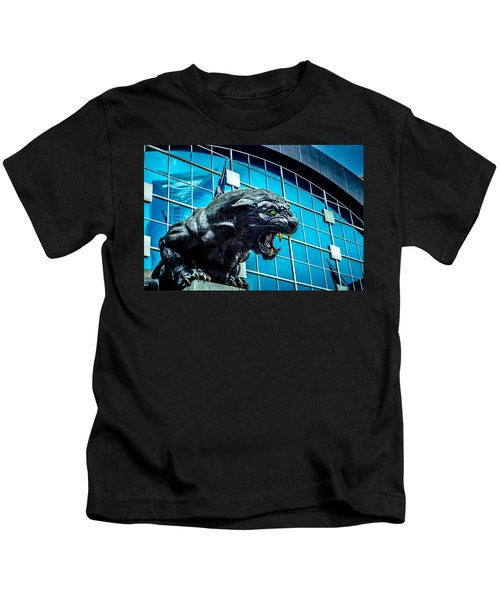 Black Panther Statue Kids T-Shirt