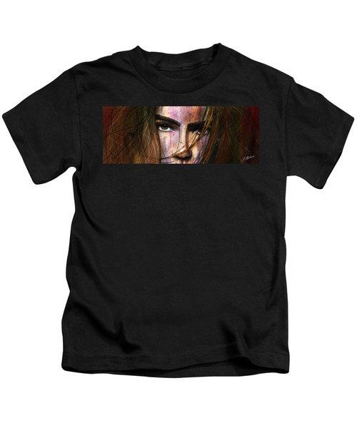 Brown Iris Entangled Kids T-Shirt