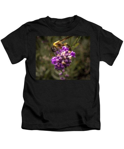 Carpenter Bee On A Lavender Spike Kids T-Shirt