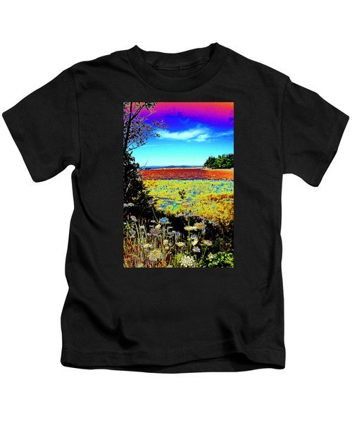 Coos Bay Wild Flowers Kids T-Shirt
