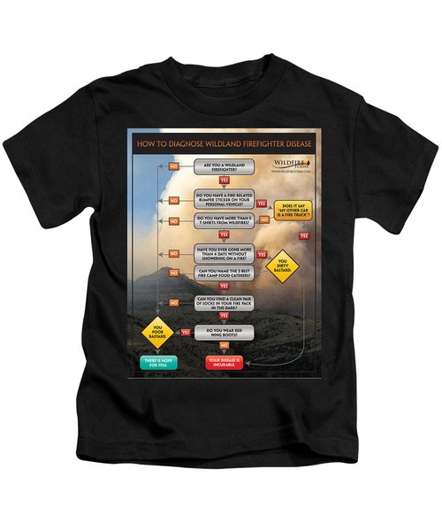 Diagnosing Wildland Firefighter Disease Kids T-Shirt