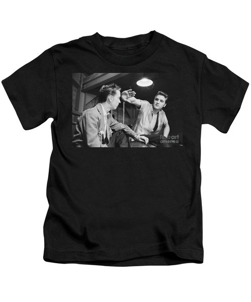 Elvis Presley And His Cousin Gene Smith 1956 Kids T-Shirt