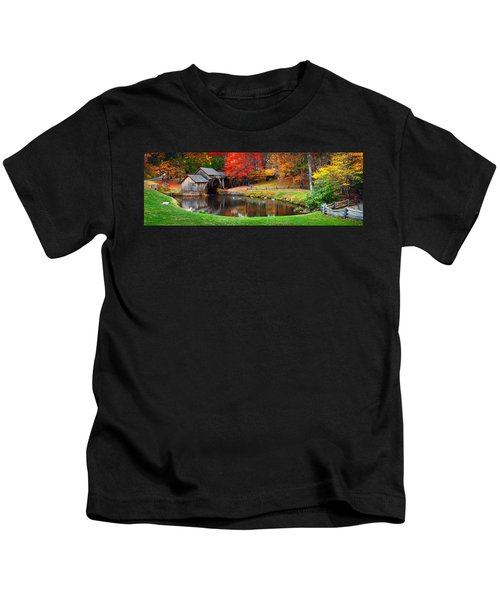 Mabry Mill Pano Kids T-Shirt