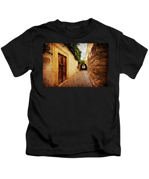Narrow Street In Souk / Hammamet Kids T-Shirt