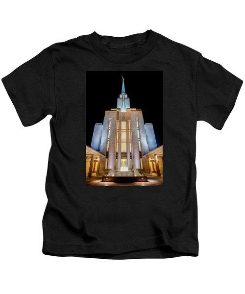 Oquirrh Mountain Temple 1 Kids T-Shirt