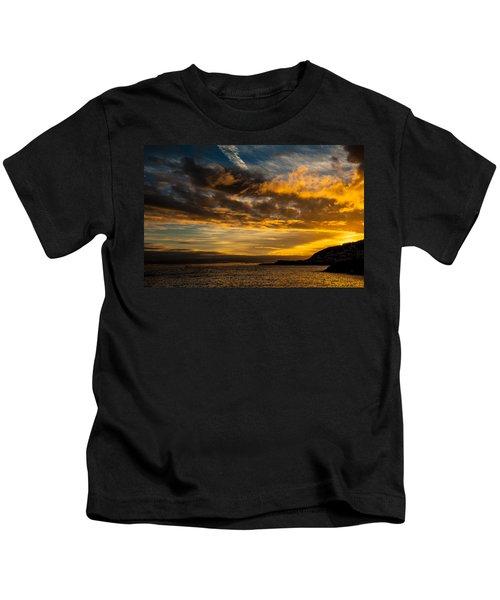Sunset Over The Ocean  Kids T-Shirt