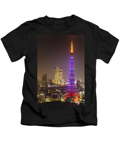 Tokyo Tower - Tokyo - Japan Kids T-Shirt by Luciano Mortula