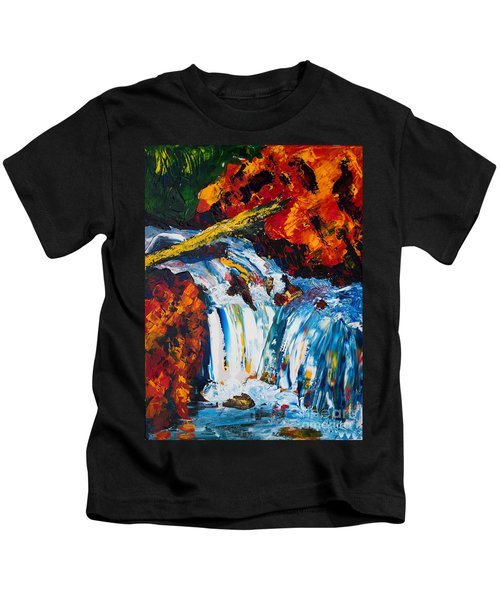 Log And Waterfall Kids T-Shirt