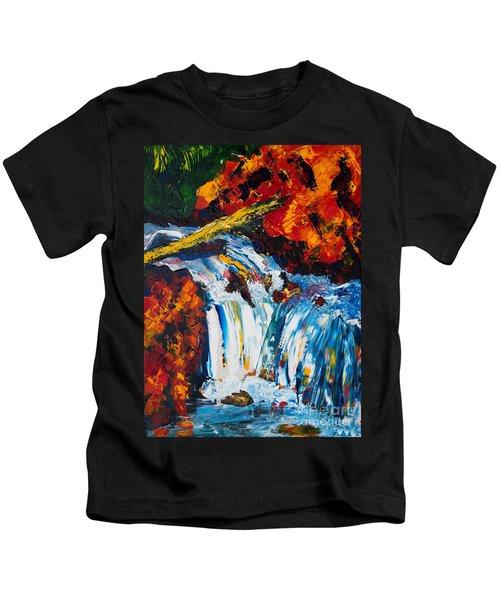 Log And Waterfall Kids T-Shirt