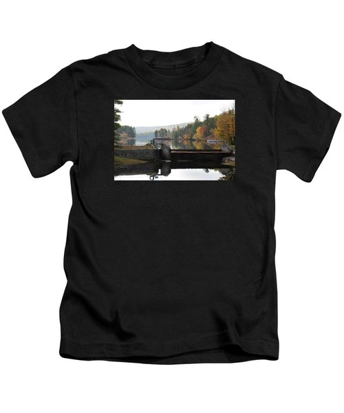 Pine River Pond  Kids T-Shirt