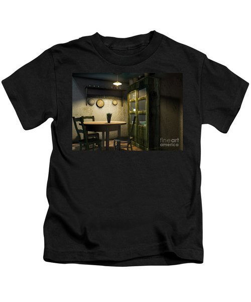 3d Dining Table Room Kids T-Shirt