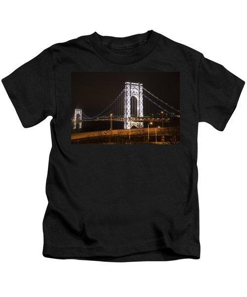 George Washington Bridge On President's Day Kids T-Shirt