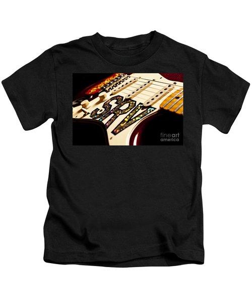 Replica Stevie Ray Vaughn Electric Guitar Artistic Kids T-Shirt by Jani Bryson