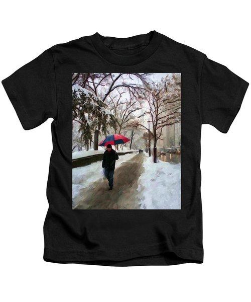 Snowfall In Central Park Kids T-Shirt