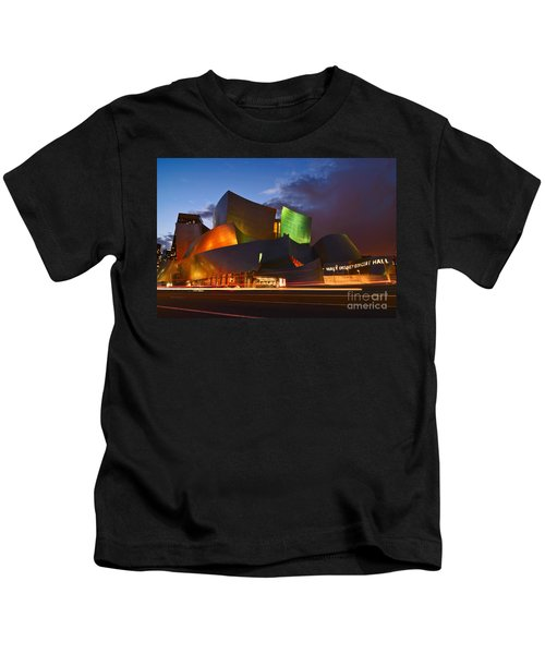 Sunset At The Walt Disney Concert Hall In Downtown Los Angeles. Kids T-Shirt