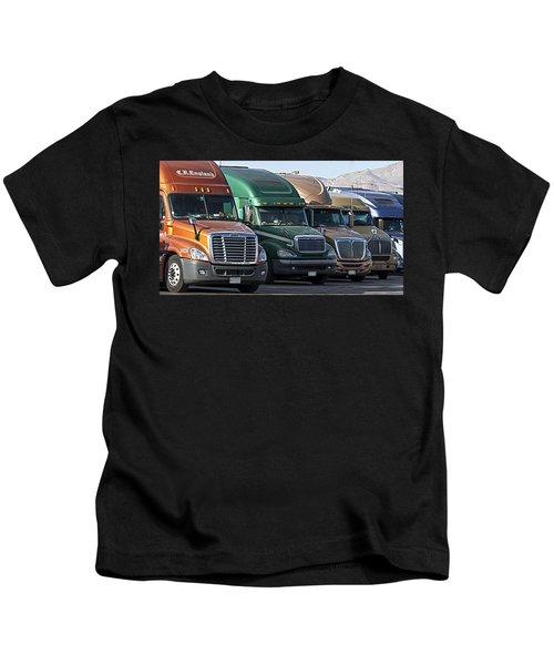 Semi Truck Fleet Kids T-Shirt