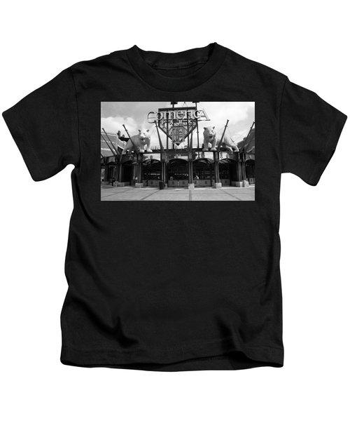 Comerica Park - Detroit Tigers Kids T-Shirt