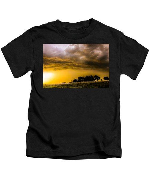 Late Afternoon Nebraska Thunderstorms Kids T-Shirt