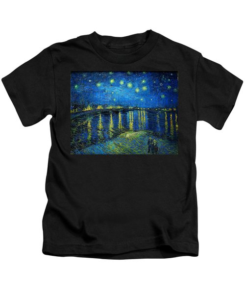 Starry Night Over The Rhone Kids T-Shirt