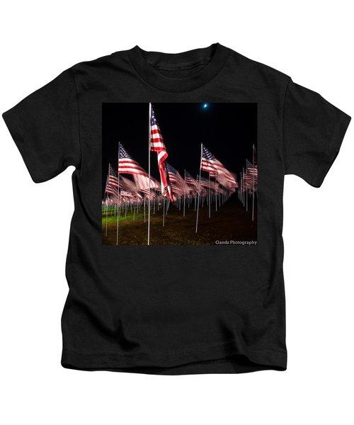 9-11 Flags Kids T-Shirt